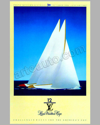 Louis Vuitton Cup Challenger races for the America's cup large poster by Razzia 1986-1987