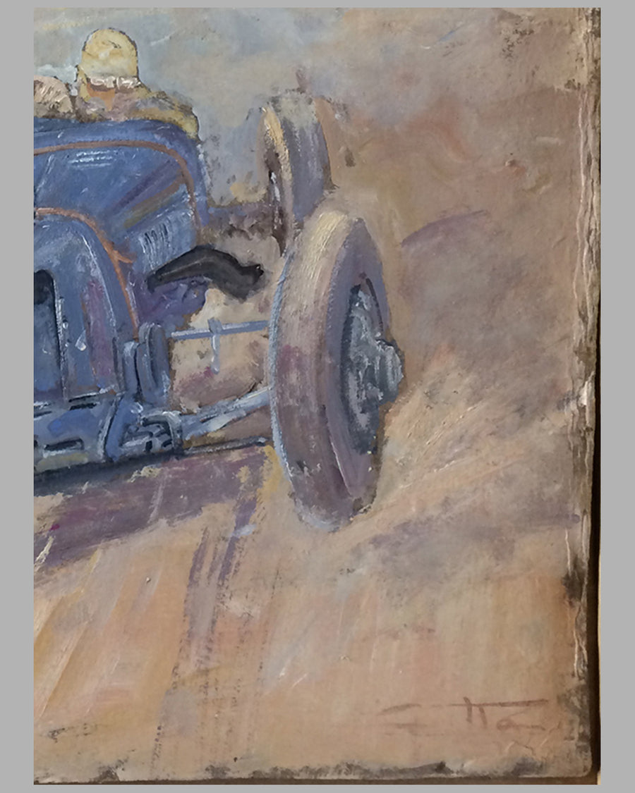 Amilcar original preliminary oil painting on board by Geo Ham 2