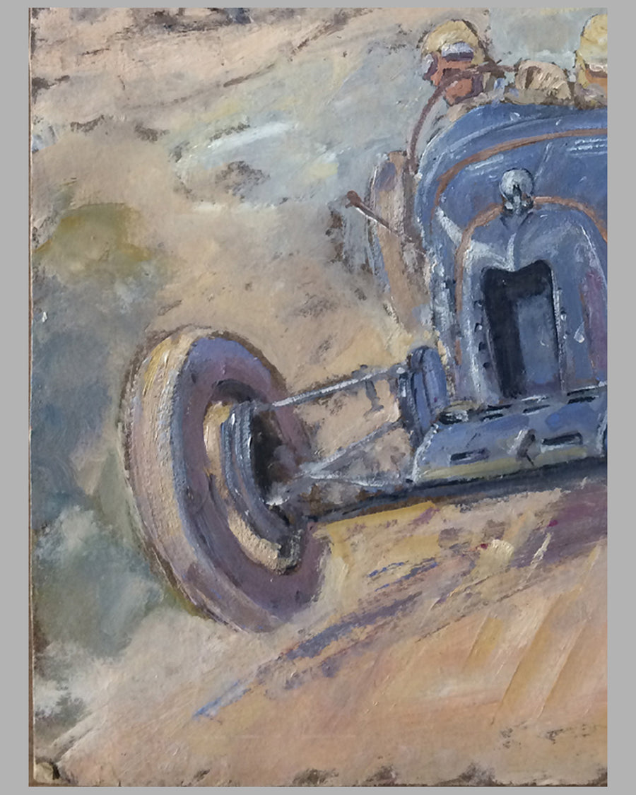 Amilcar original preliminary oil painting on board by Geo Ham 3