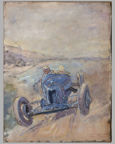 Amilcar original preliminary oil painting on board by Geo Ham 5
