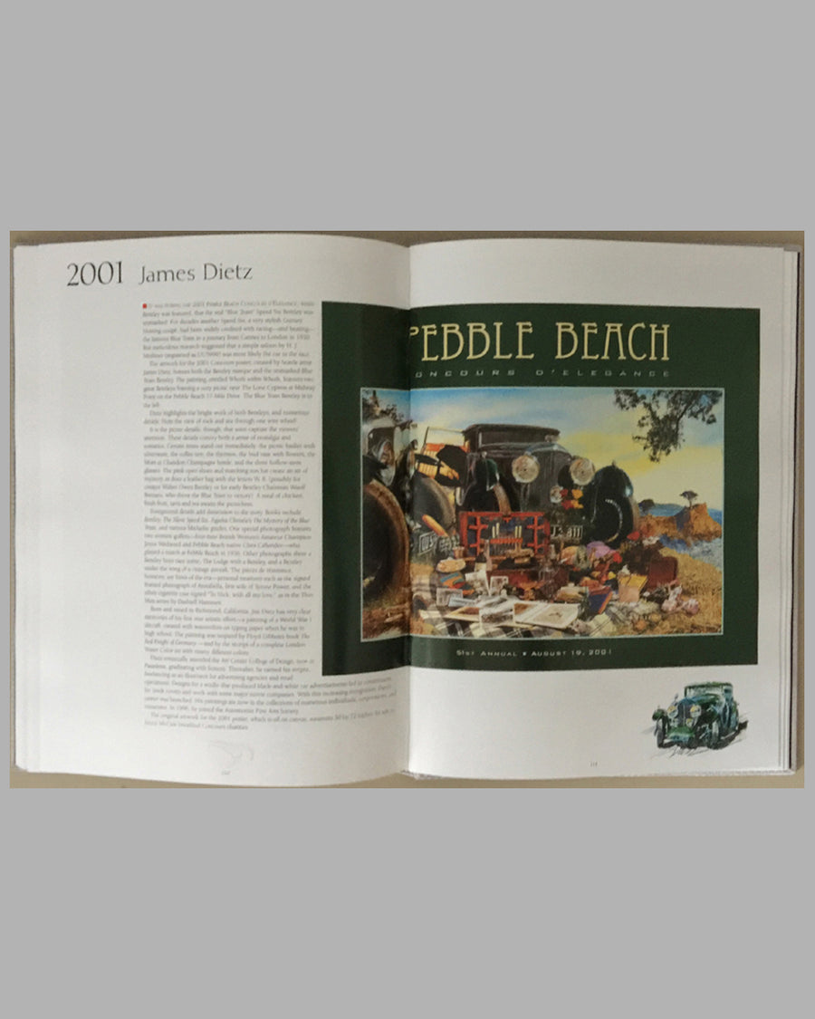 Pebble Beach Concours d'Elegance The Art of The Poster book inside 4