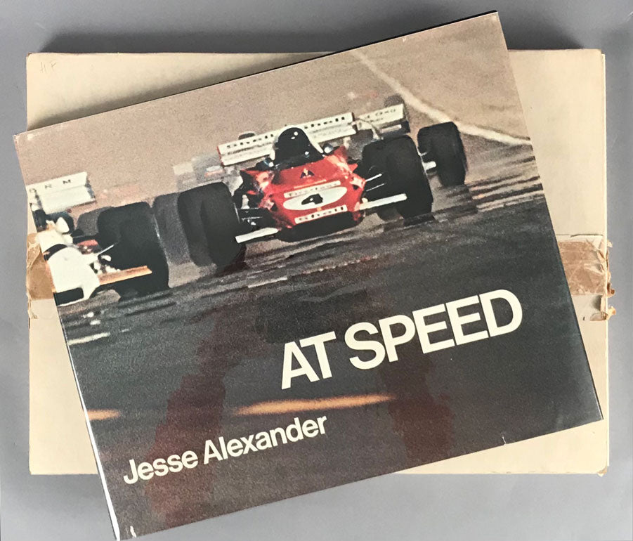 At Speed - Famous coffee table book by acclaimed motoracing photographer Jesse Alexander, 1st ed. 1972