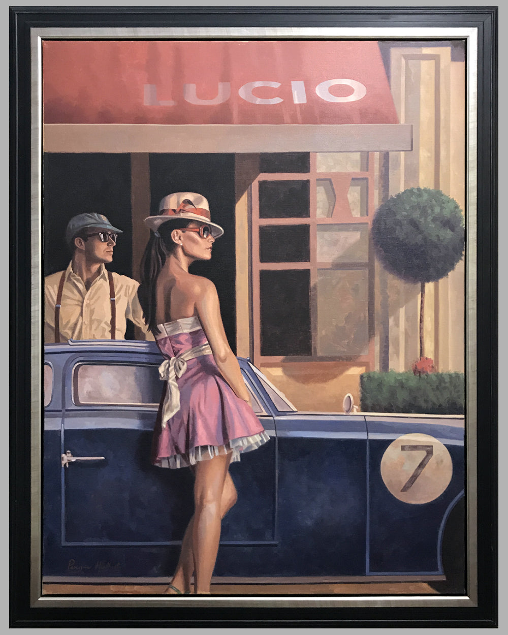 """At Lucio"" painting by Peregrine Heathcote"