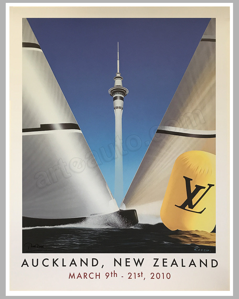 America's Cup 2010 poster by Razzia