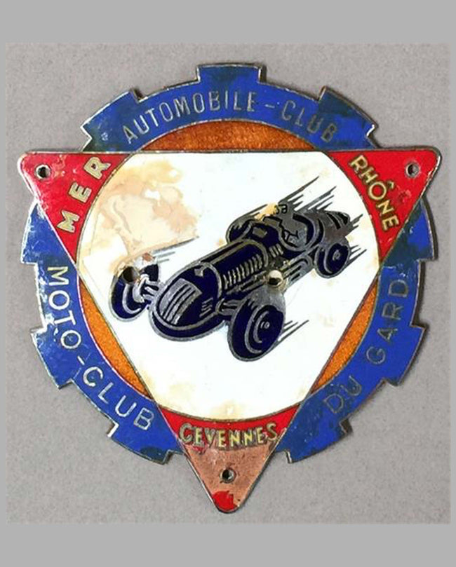 Automobile Club, Motor Club du Gard badge