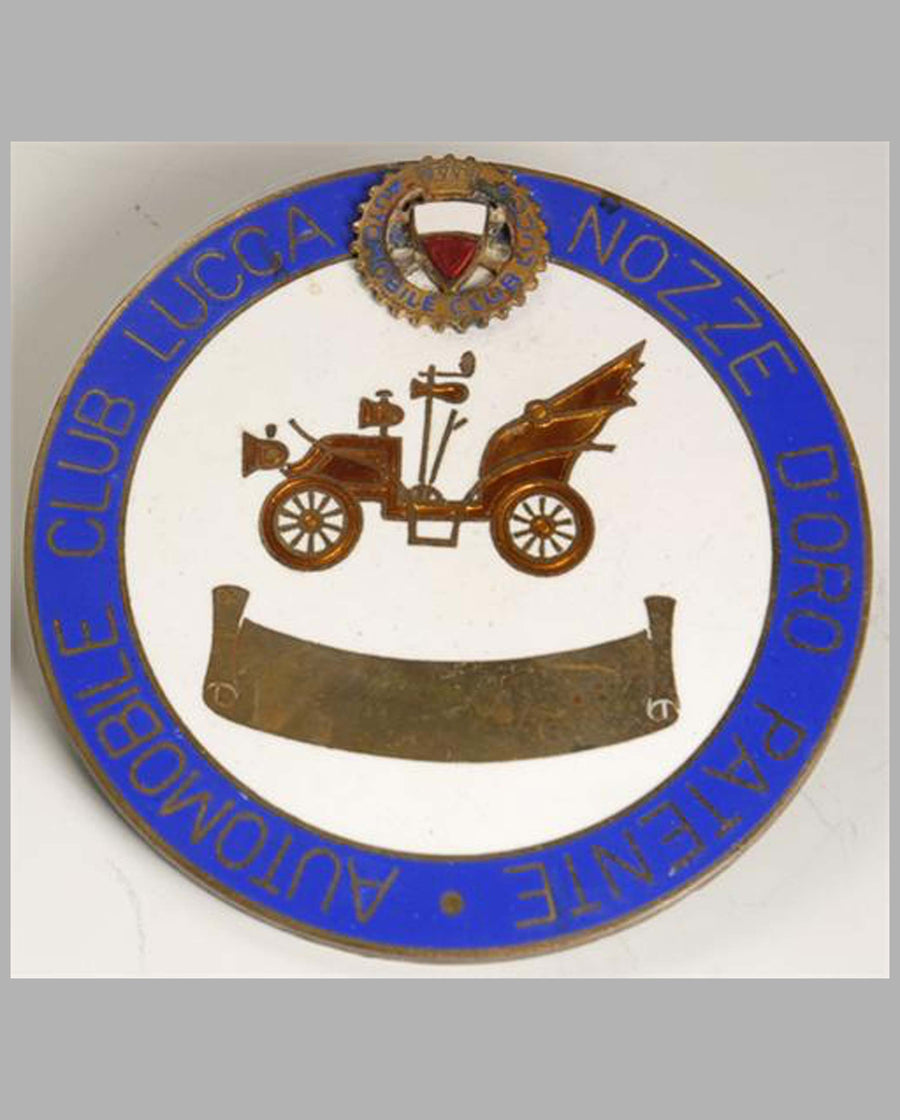 Automobile Club Lucca Nozze D' Oro (Italy) member's badge