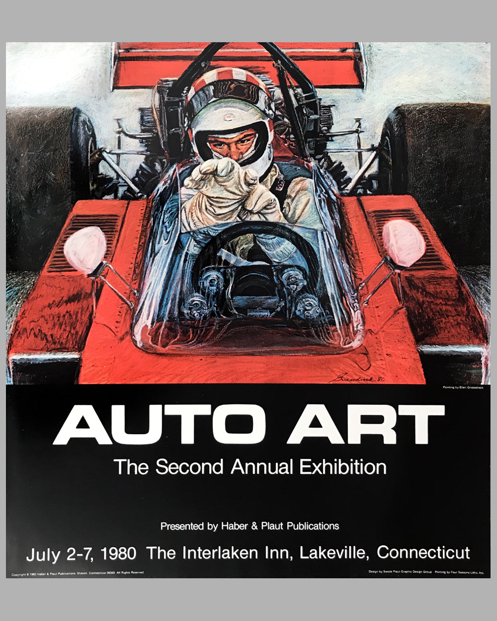 2nd Annual Auto Art Exhibition poster 1980