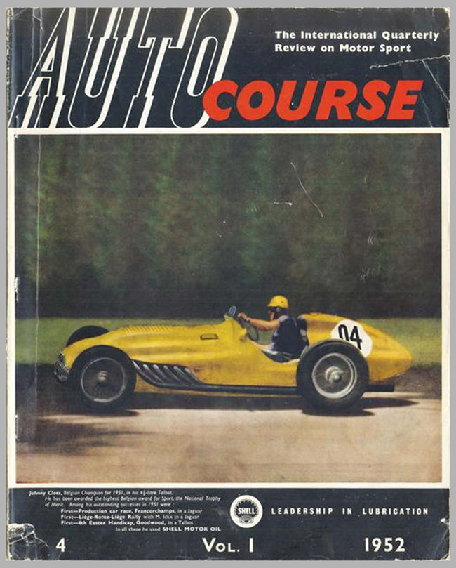 Autocourse magazine, volume 1, #4, 1952, 4th issue