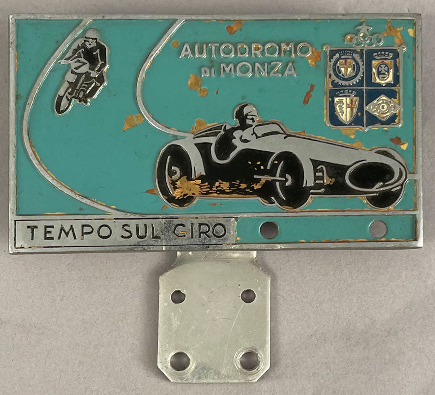 Autodromo di Monza bumper/bar badge, 1950's
