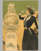 Automobiles & Cycles Rochet original poster by Philippe Chapellier circa 1900 4