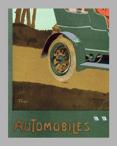 Automobiles Orel advertising poster, by Thor 3