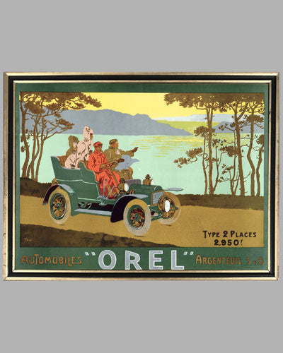 Automobiles Orel advertising poster, by Thor