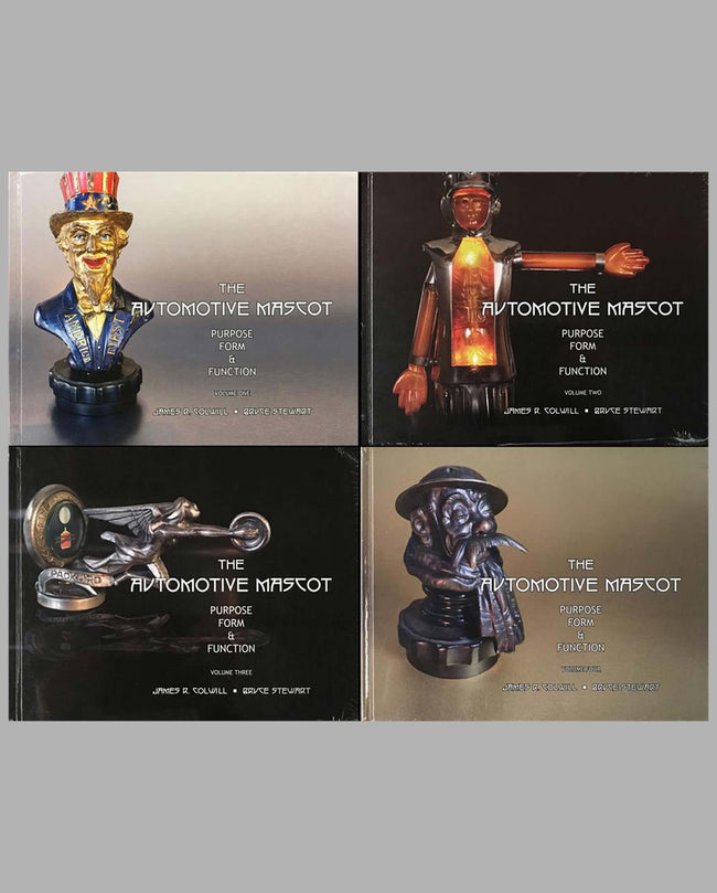 The Automotive Mascot Purpose, Form and Function books, complete set of 4, by James R. Colwill and Bruce Stewart