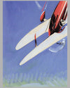 Aviation Aerobatic Loops original painting by Geo Ham 3