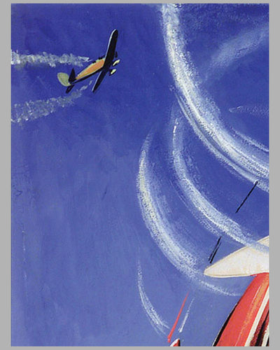 Aviation Aerobatic Loops original painting by Geo Ham 4