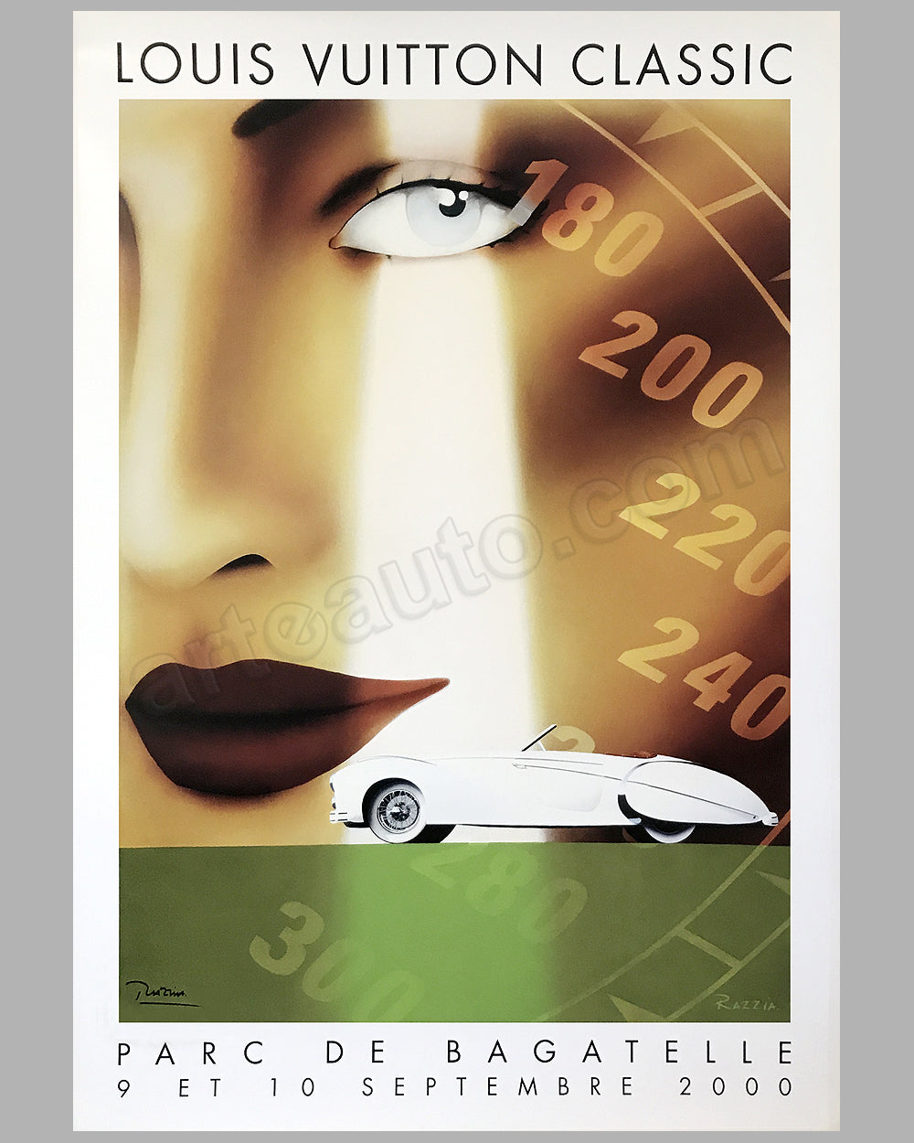 Parc de Bagatelle Concours d' Elegance 2000 in Paris large poster by Razzia