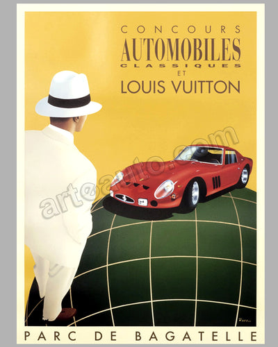 Louis Vuitton Bagatelle Concours d'Elegance 1995 large original event poster by Razzia