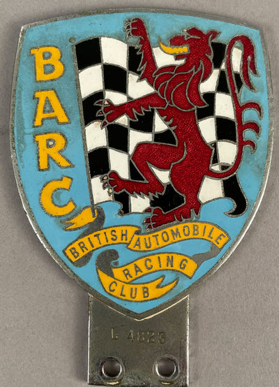 BARC (British Automobile Racing Club) bumper/bar badge