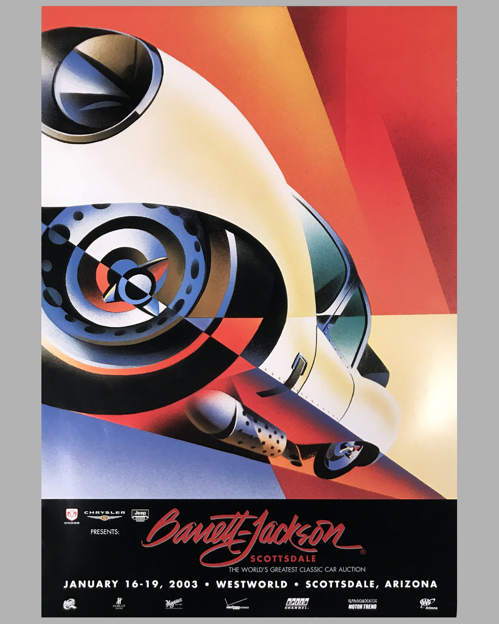Barrett Jackson Scottsdale auction poster by Alain Levesque