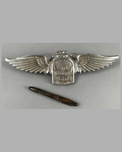 Large Bentley owners club badge for trunk of car