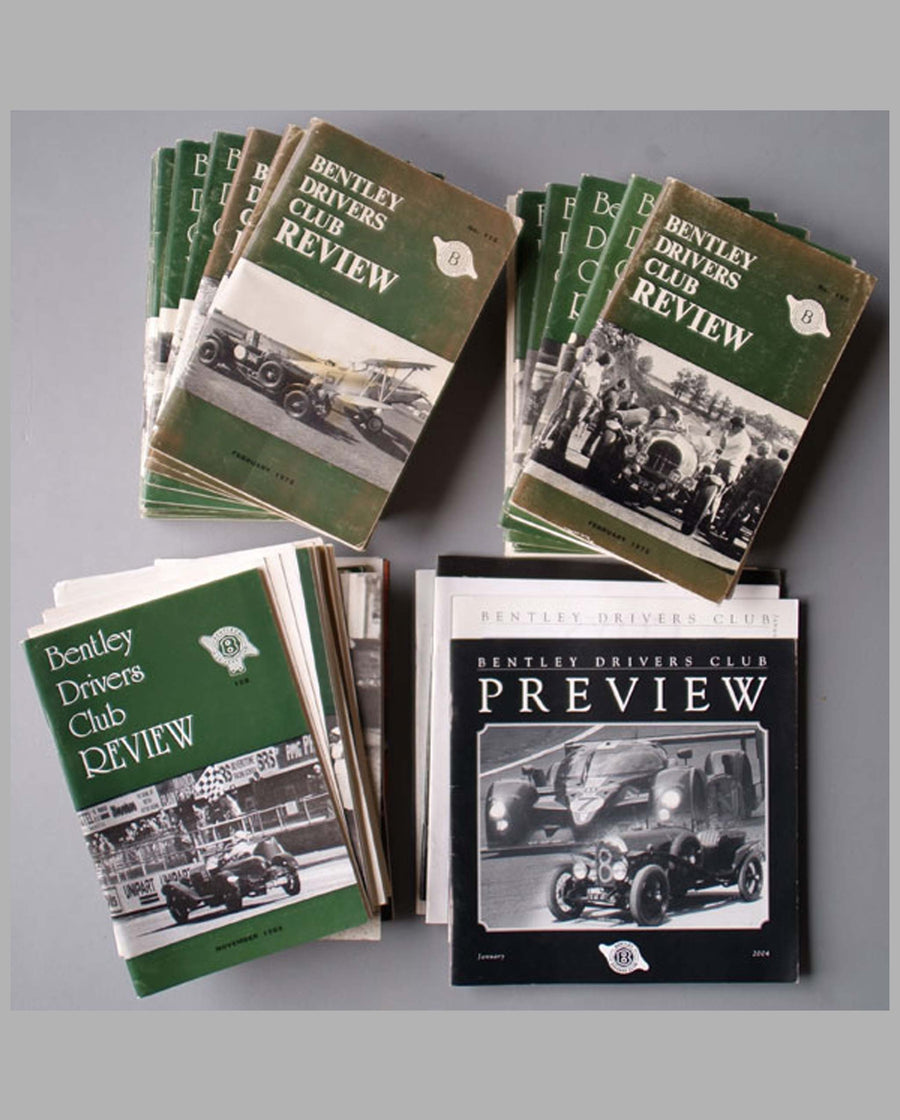 Bentley Driver's Club publications, 60 issues from 1973-2005