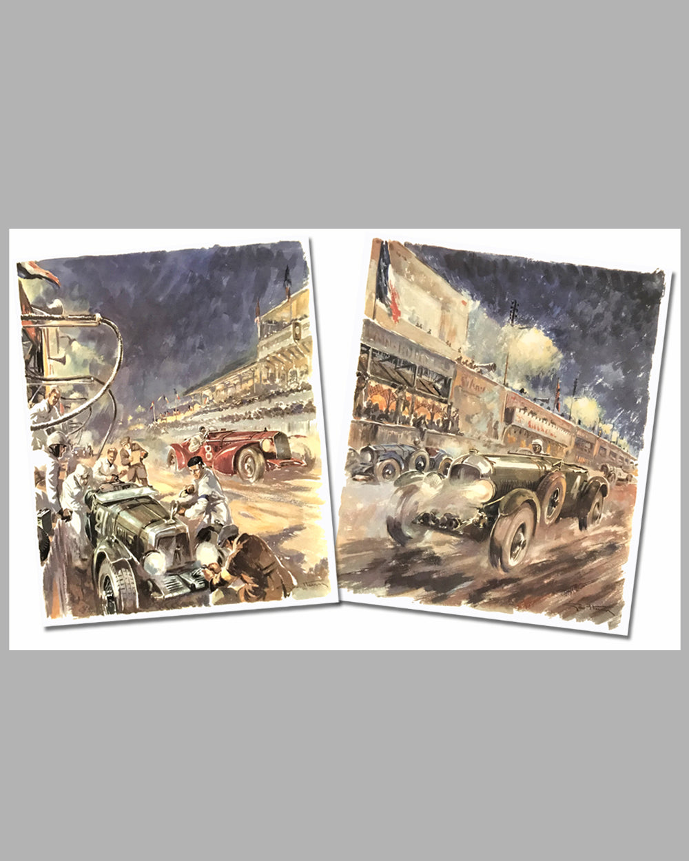 Geo Ham 1930 Bentley & 1932 Alfa Romeo at Le Mans prints