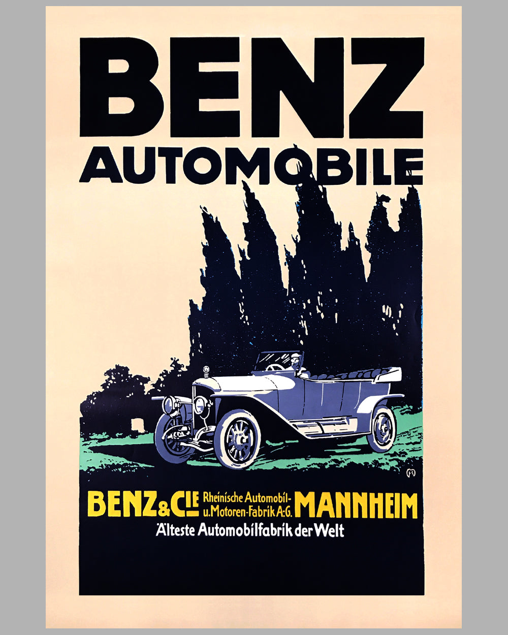 Benz Automobile poster factory reproduction poster