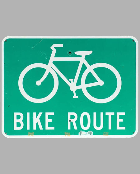 Bike Route metal sign