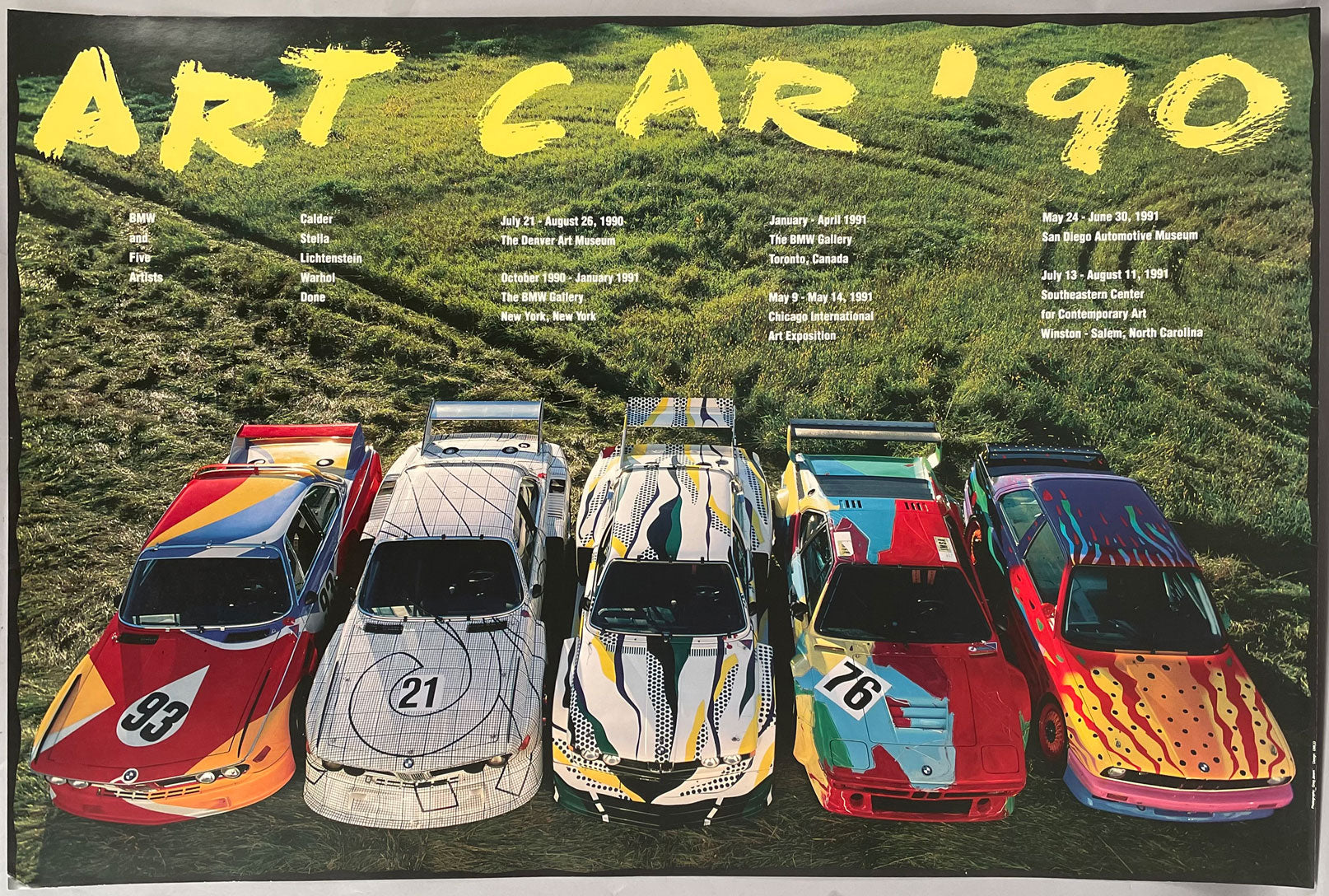 BMW Art Car 1990 official poster