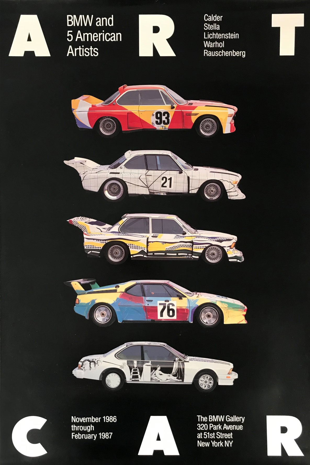 BMW Car Art poster 1986