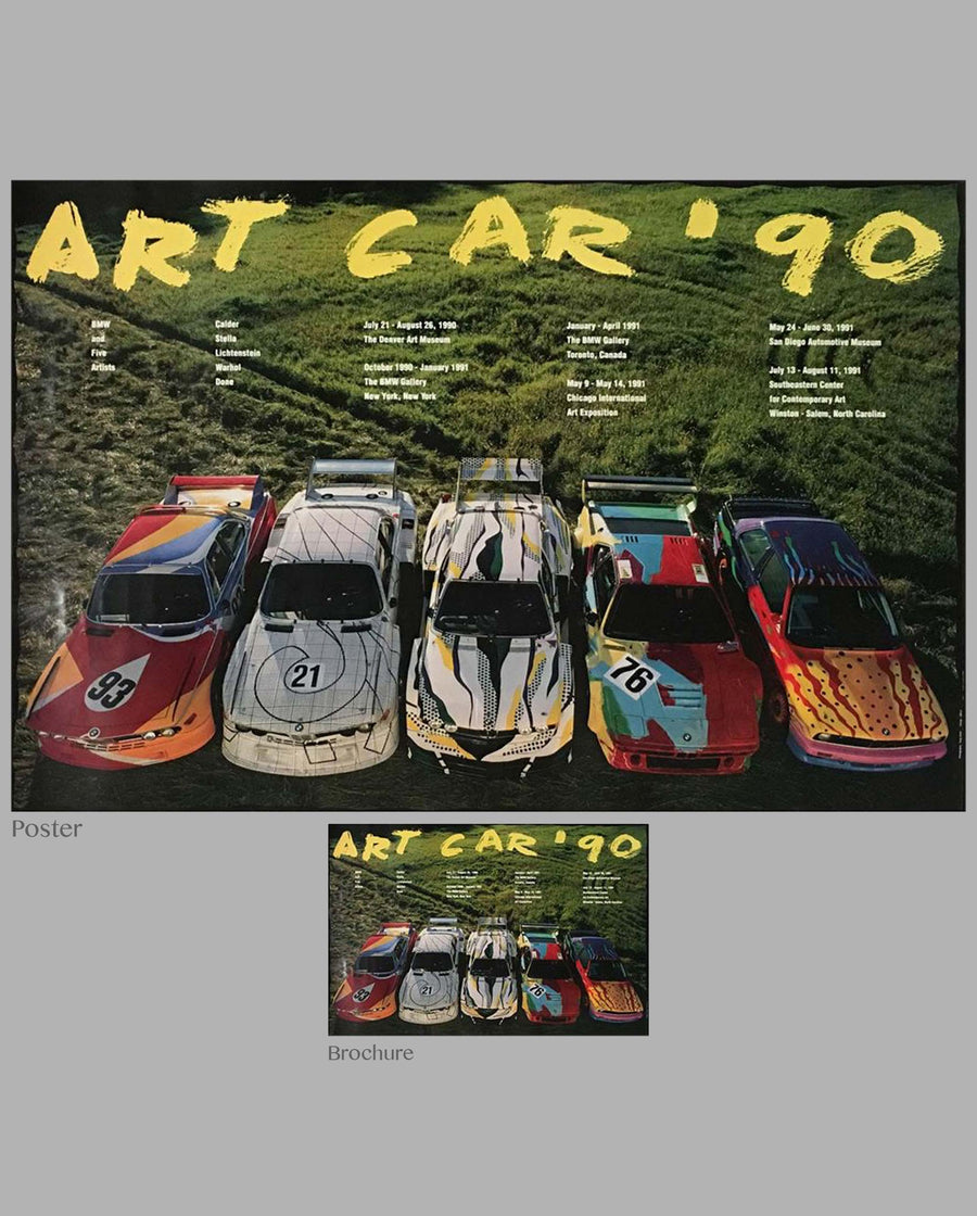 Art Car 90 BMW original factory poster and exhibit catalog