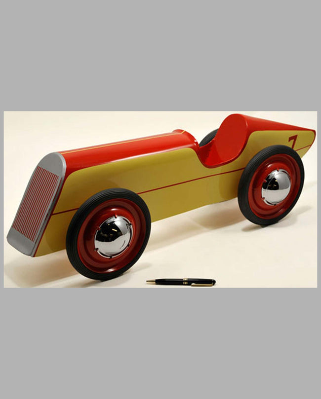 Boattail Racer large pressed steel toy car