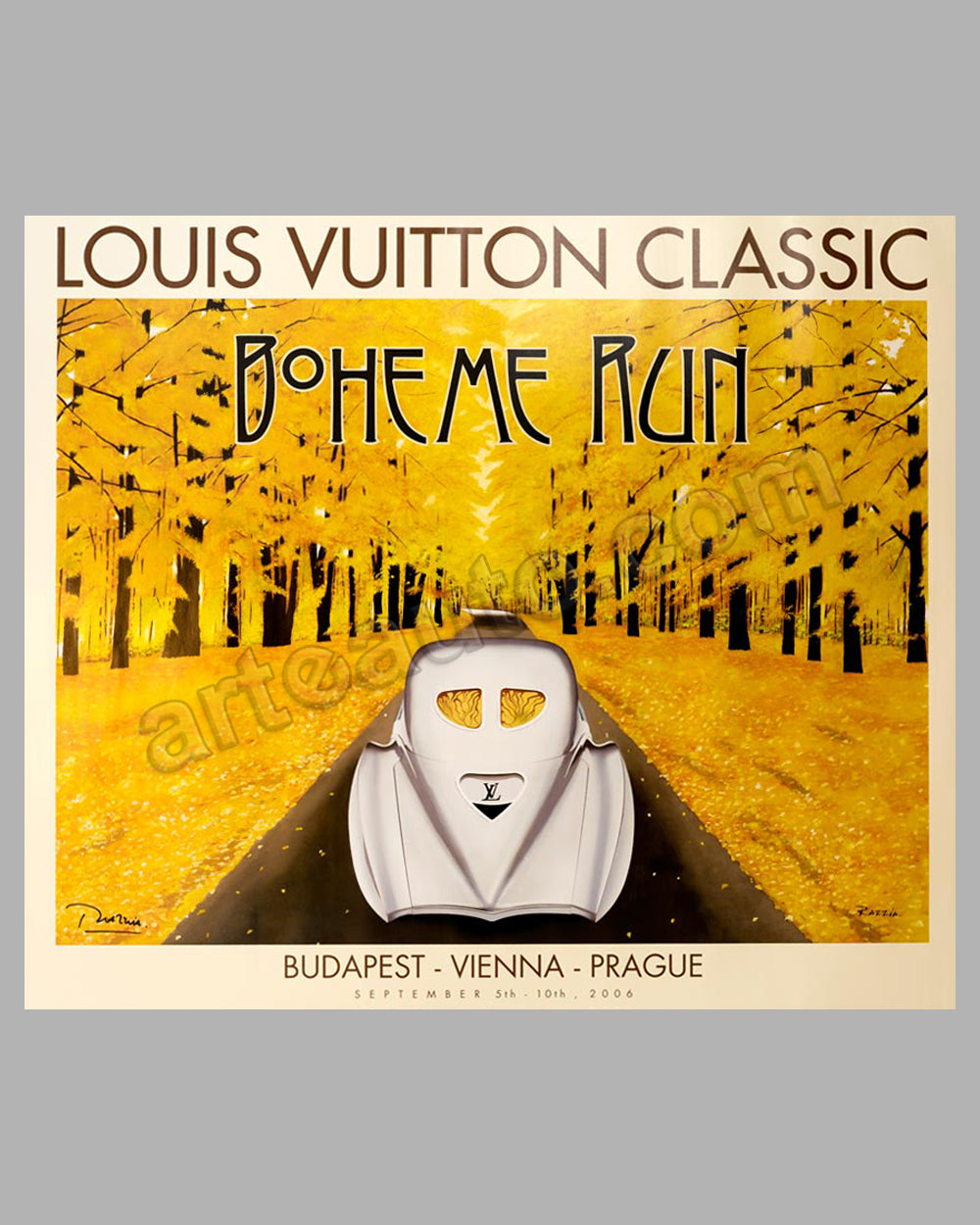Louis Vuitton Classic 2006 Boheme Run original poster by Razzia