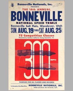 14th Annual Bonneville National Speed Trials 1962 original advertising Poster