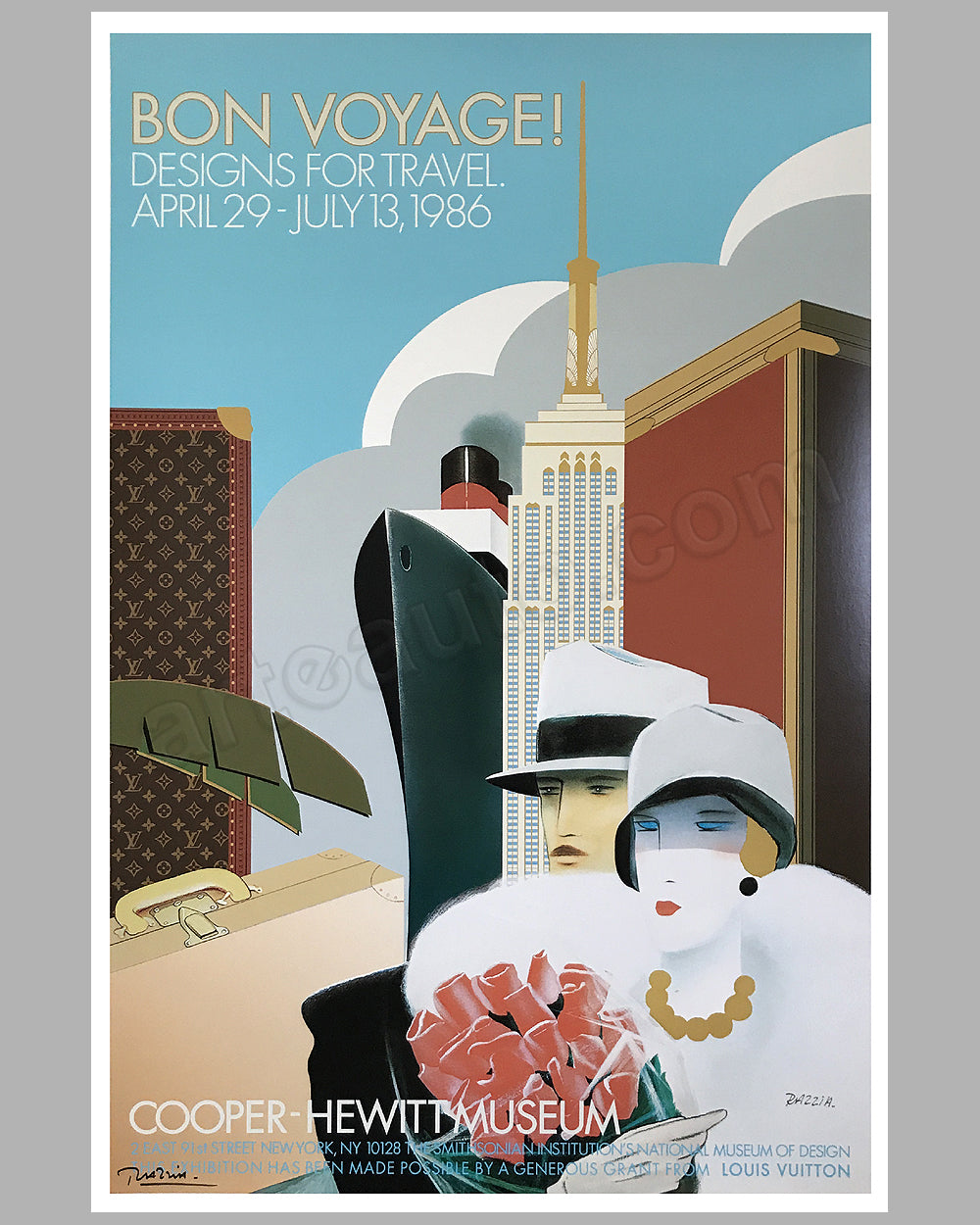 Bon Voyage Louis Vuitton large poster by Razzia - $575.00