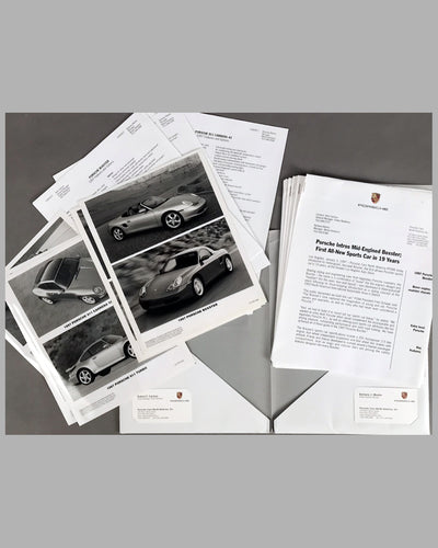 Porsche Boxter press release for the U.S. market on January 3rd 1997 2