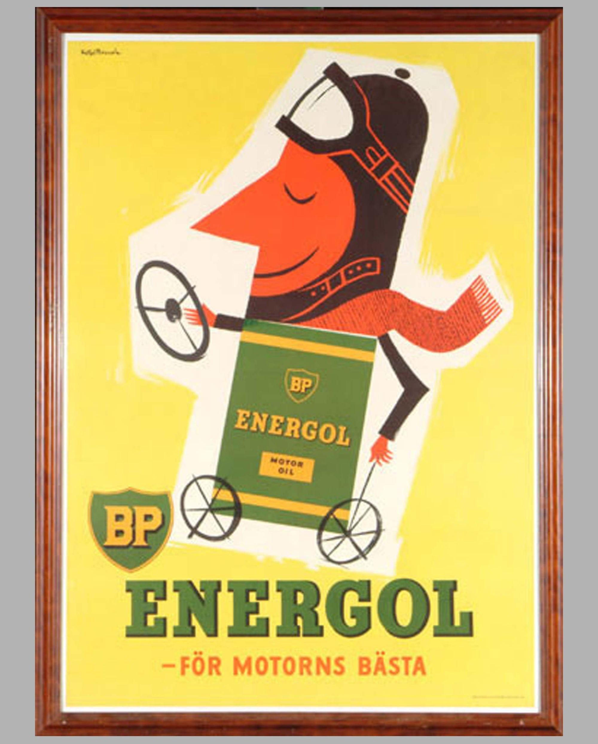 1953 BP Energol advertising poster