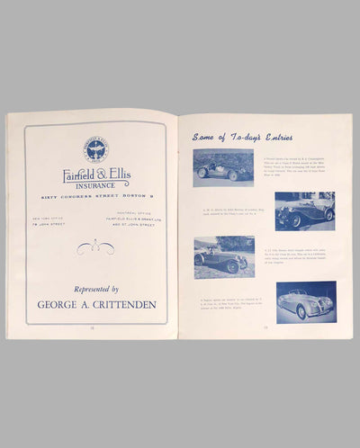Bridgehampton Sports Car Road Race 1949 Program inside