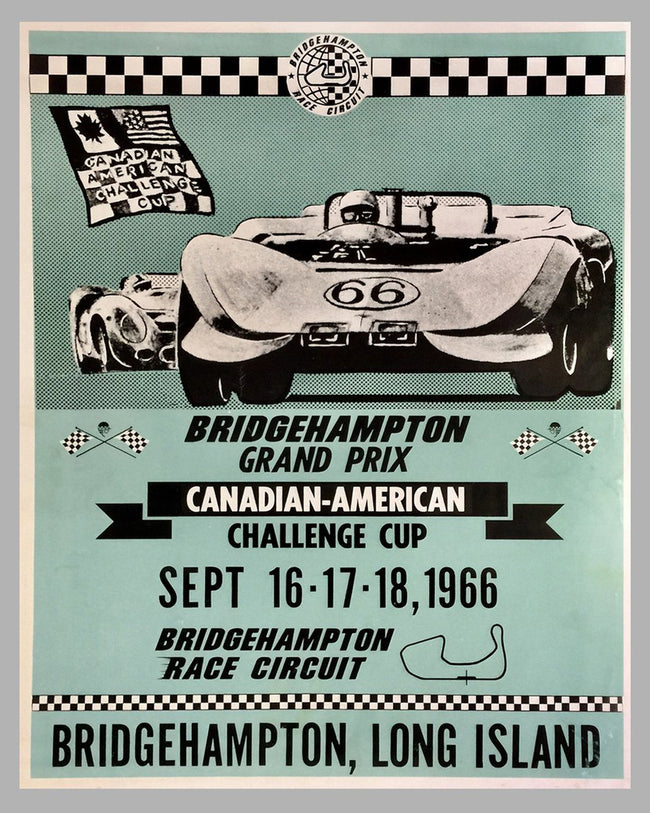 Bridgehampton Grand Prix poster for the Canadian - American Challenge
