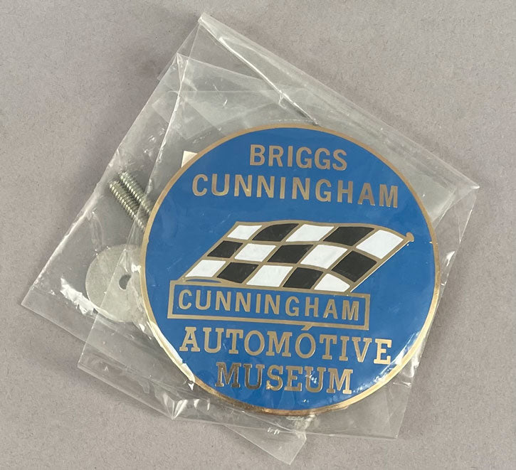 Briggs Cunningham automotive museum grill badge