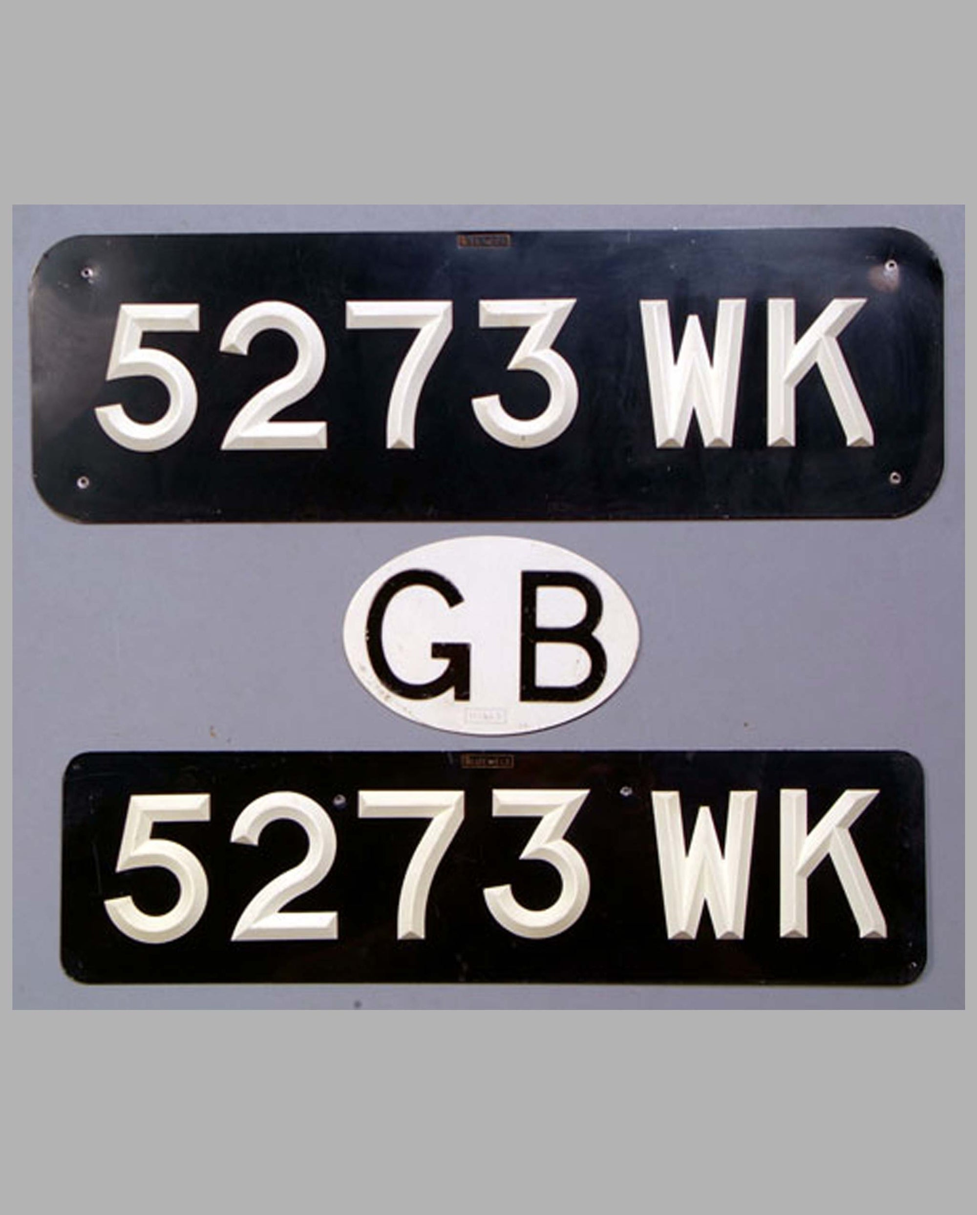 British License Plates and Country Badge