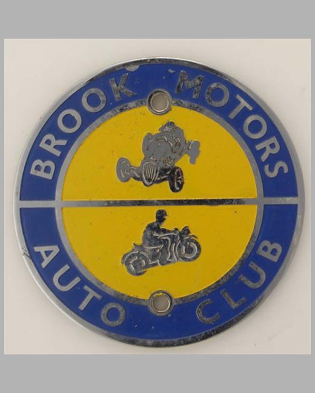 Brook Motors Auto Club member's badge