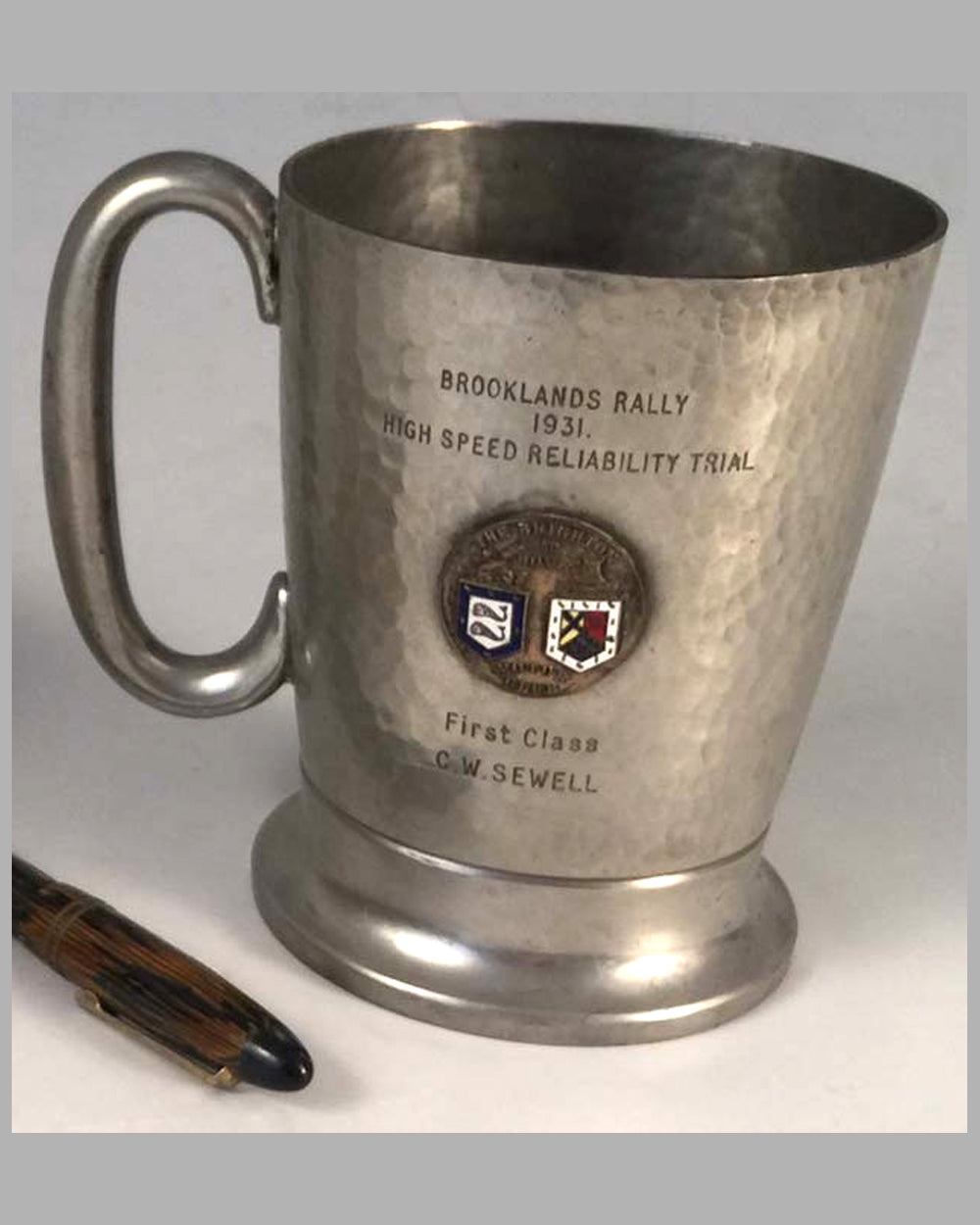 Pre World War II Brooklands trophy stein