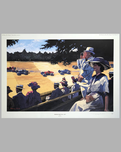 Brooklands Style - 1912 print by Barry Rowe