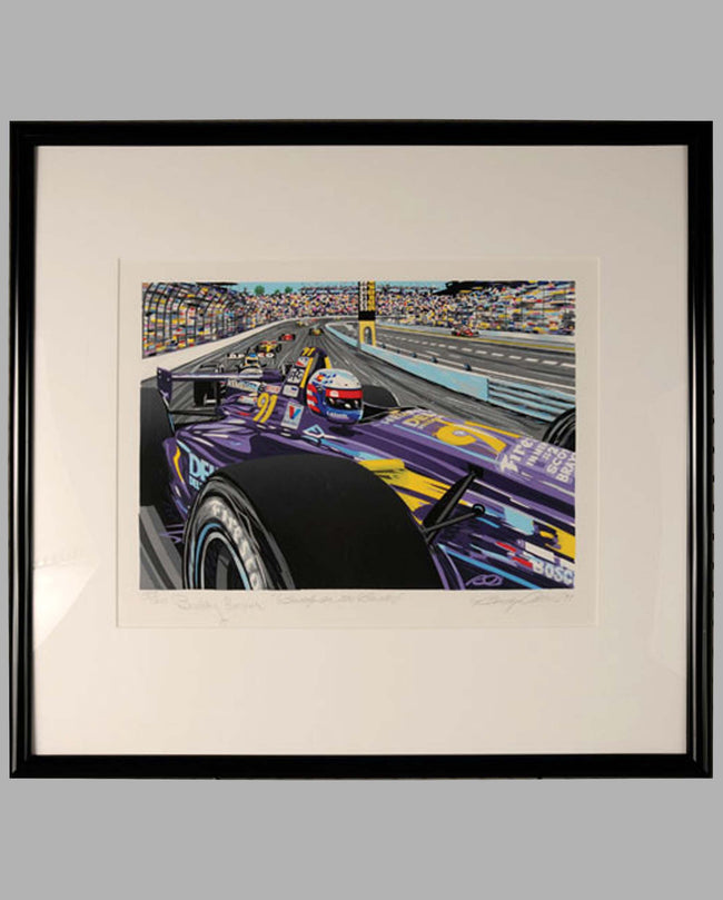 Buddy on the Bricks (autographed by Buddy Lazier) serigraph by Randy Owens