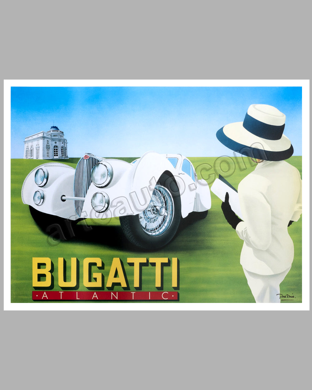 Bugatti Atlantic large poster by Razzia