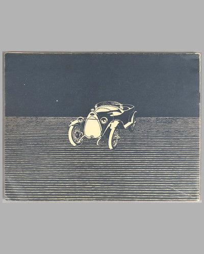 Ettore Bugatti Fabrique Automobiles Factory Book, 1922 back cover