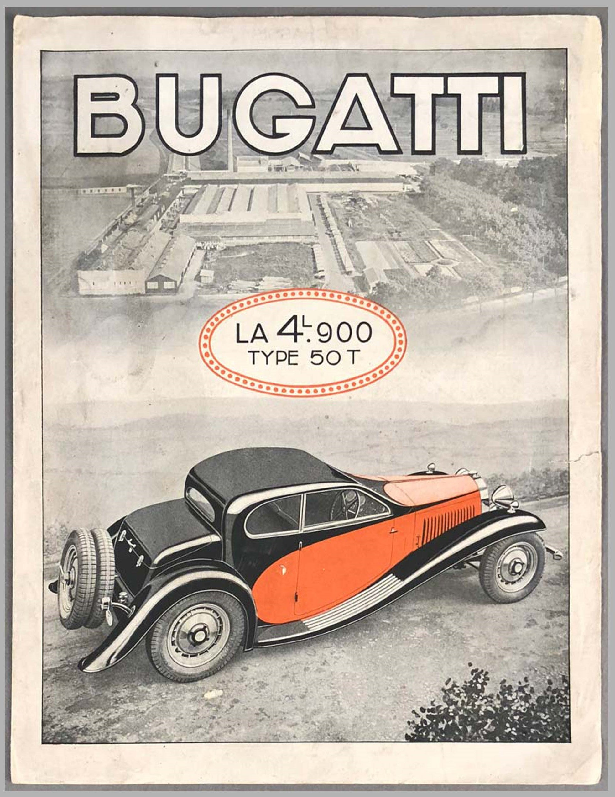 Bugatti Type 50T, 4.9 litre Original Sales Brochure
