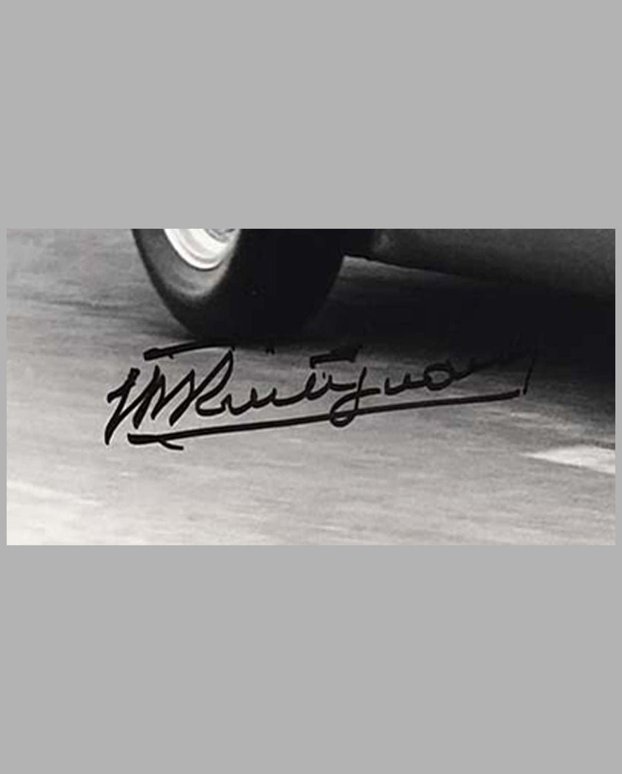 Bugatti T251 driven by Maurice Trintignant autographed photograph by Bernard Cahier 2