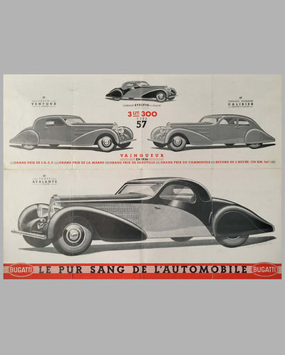 Bugatti Type 57, 57 S sales brochure inside 1